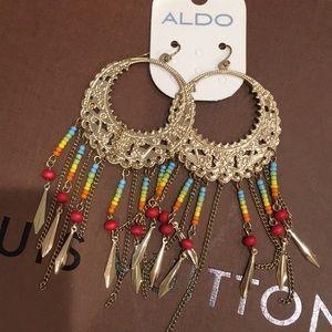 NEW ALDO GOLD TRIABLE DANGLING EARRINGS